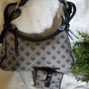 Dooney and Bourke small hobo with matching wallet